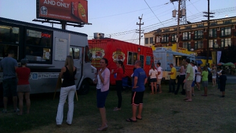 Lining Up at Food Truck Fridays in Charlotte's South End