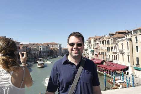 The Wandering Gourmand on Top of Rialto Bridge - My Favorite Travel Moment