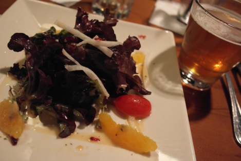 Second Course - Citrus Salad with Hop Drop and Roll IPA
