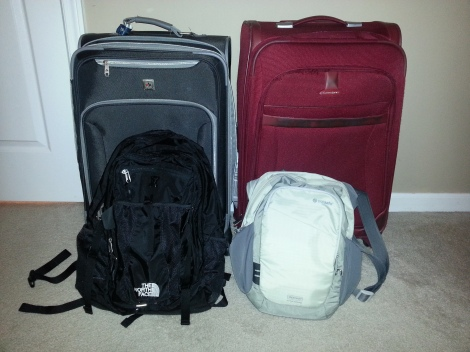 Our Luggage for Europe